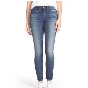 Madewell 10 inch high rise skinny skinny jeans